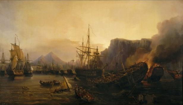 Le_soir_de_la_bataille_de_Navarin_en_1827_(Grèce)