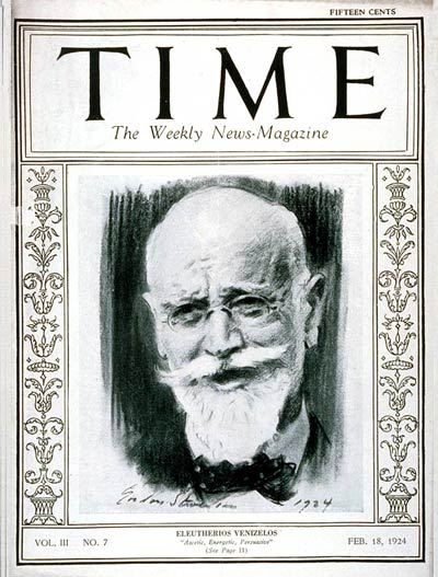 TIME_cover_Eleftherios_Venizelos
