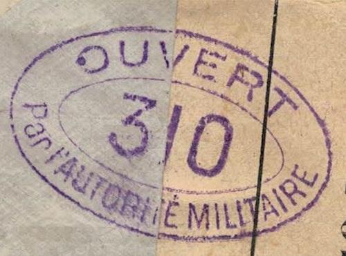Ouvert par l'autorite militaire 310