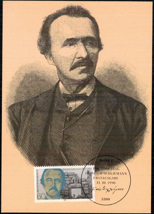 Heinrich Schliemann carte maxi allemagne