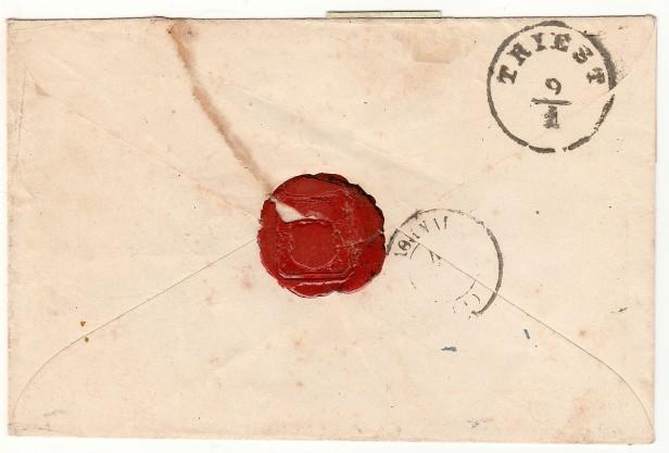 Lettre de Venise à Athènes (27 décembre 1861) - Verso