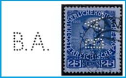 BA sur timbre autrichien