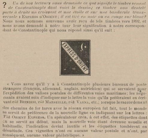 Arthur Maury (Le collectionneur de timbres-poste) en juillet 1895