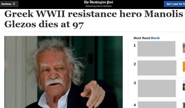 Manolis Glezos The Washington Post