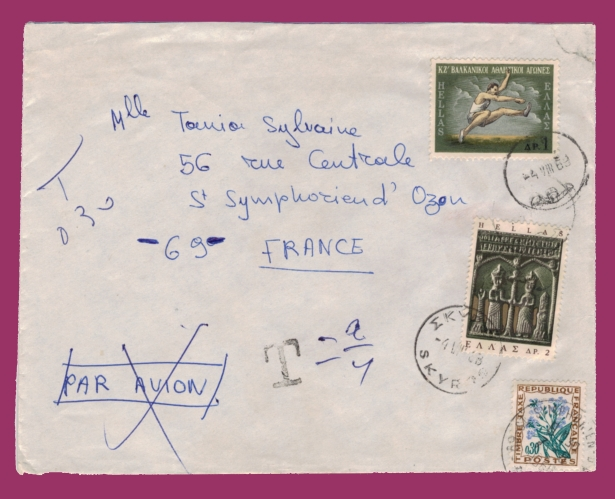 Lettre moderne taxee